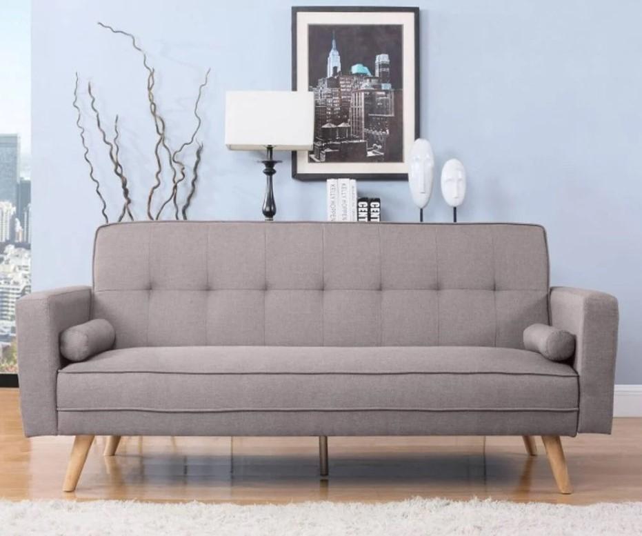 ethan grey fabric sofa bed
