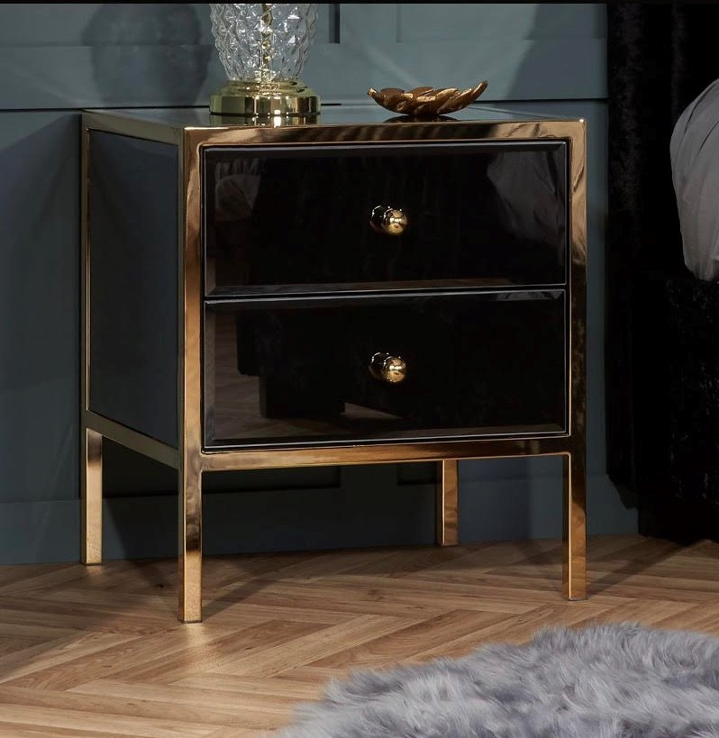 Fenwick black and gold beside table