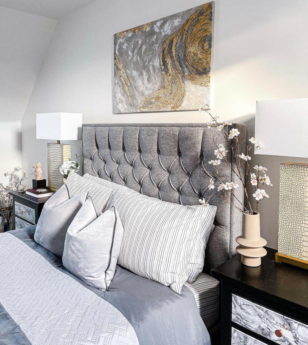 Wilson Ottoman Grey Fabric Bed