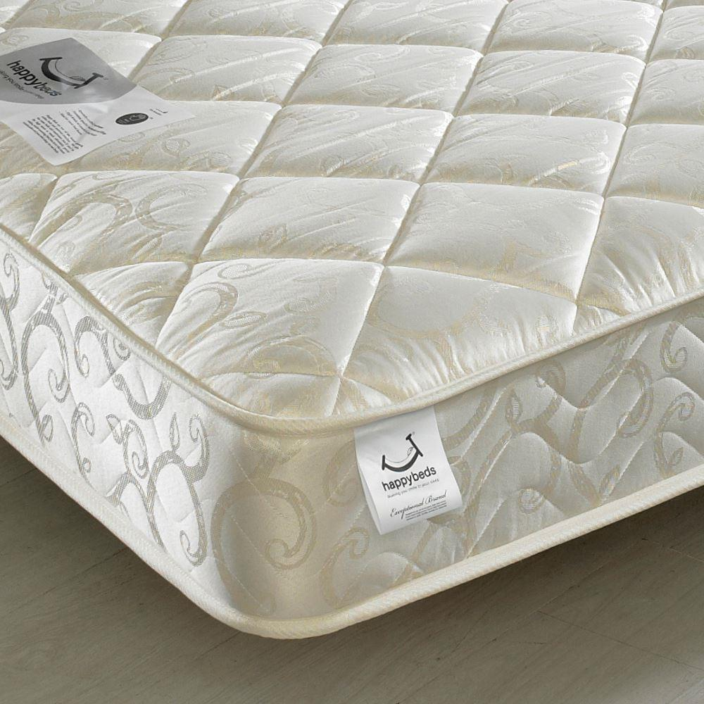 Premier Spring Quilted Fabric Mattress - 4ft6 Double (135 x 190 cm)