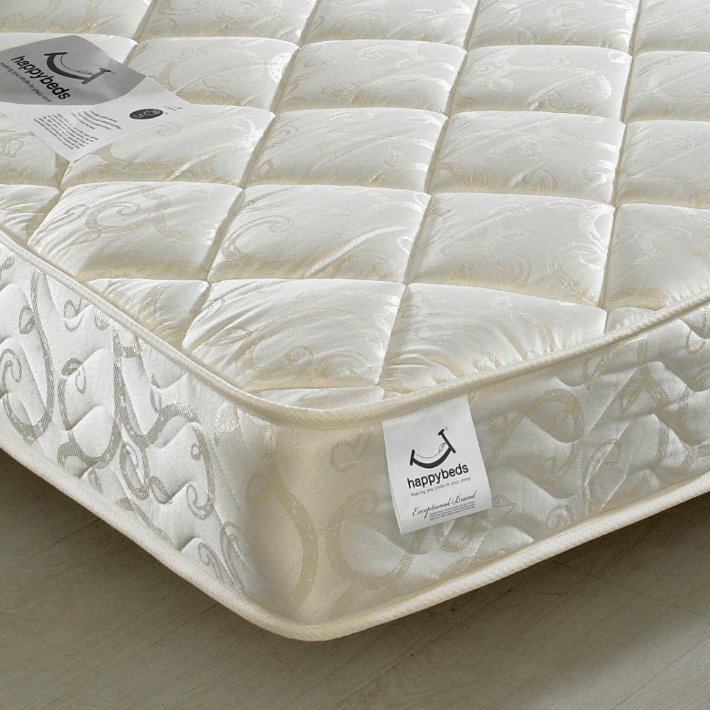 Eclipse Pocket Sprung 800 Quilted Fabric Mattress - 5ft King Size (150 x 200 cm)