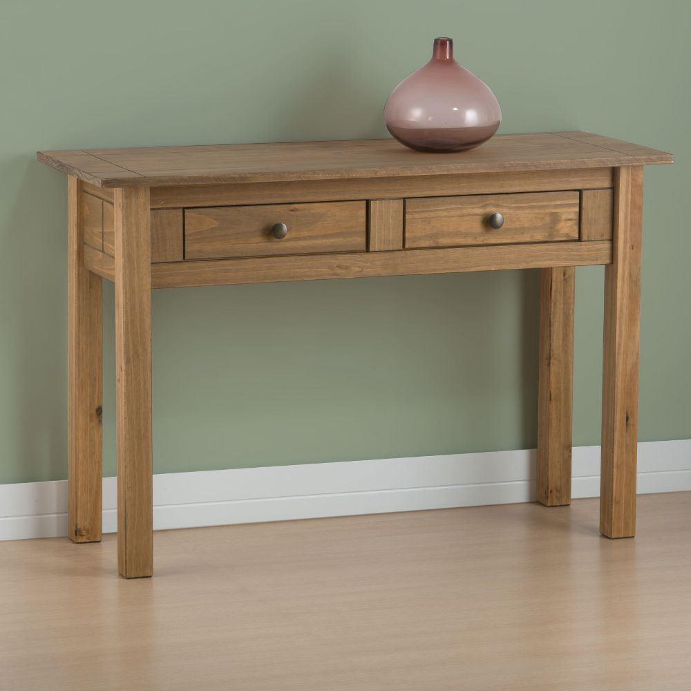 Santiago Pine 2 Drawer Console Table
