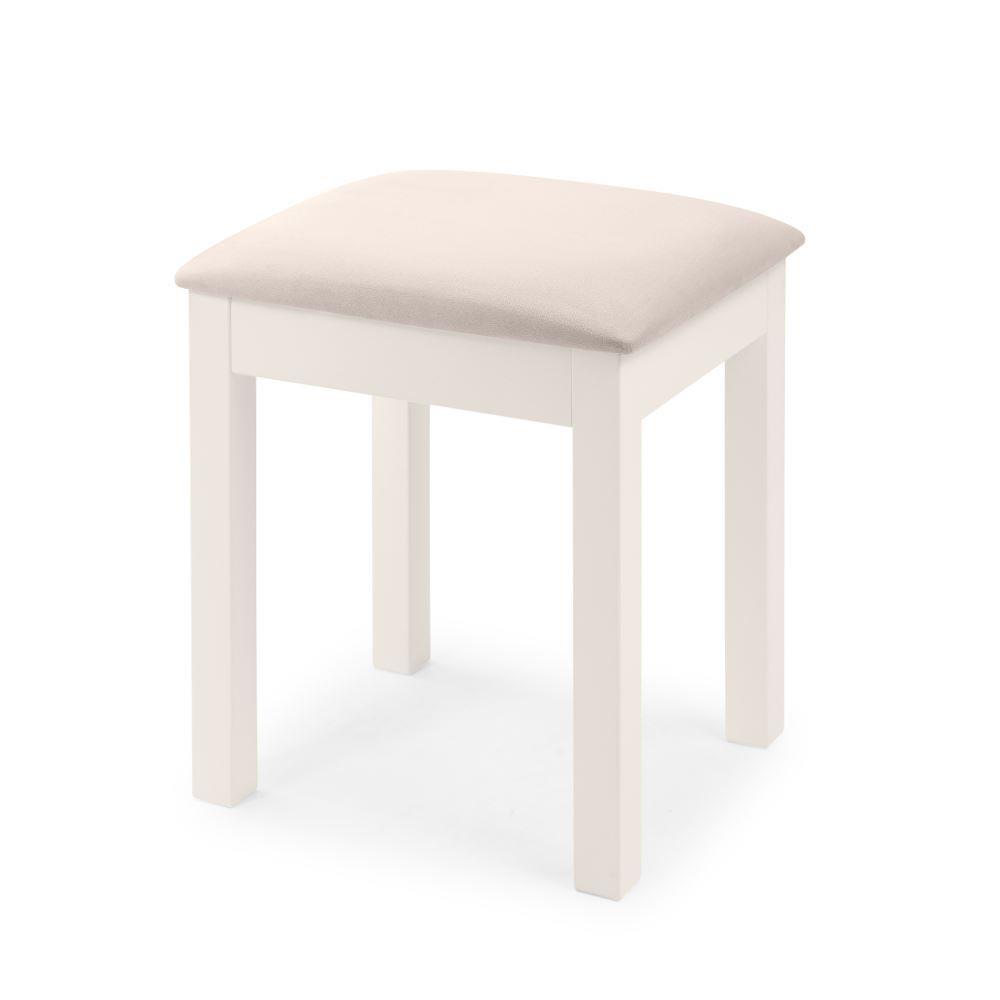 Maine White Dressing Table Stool