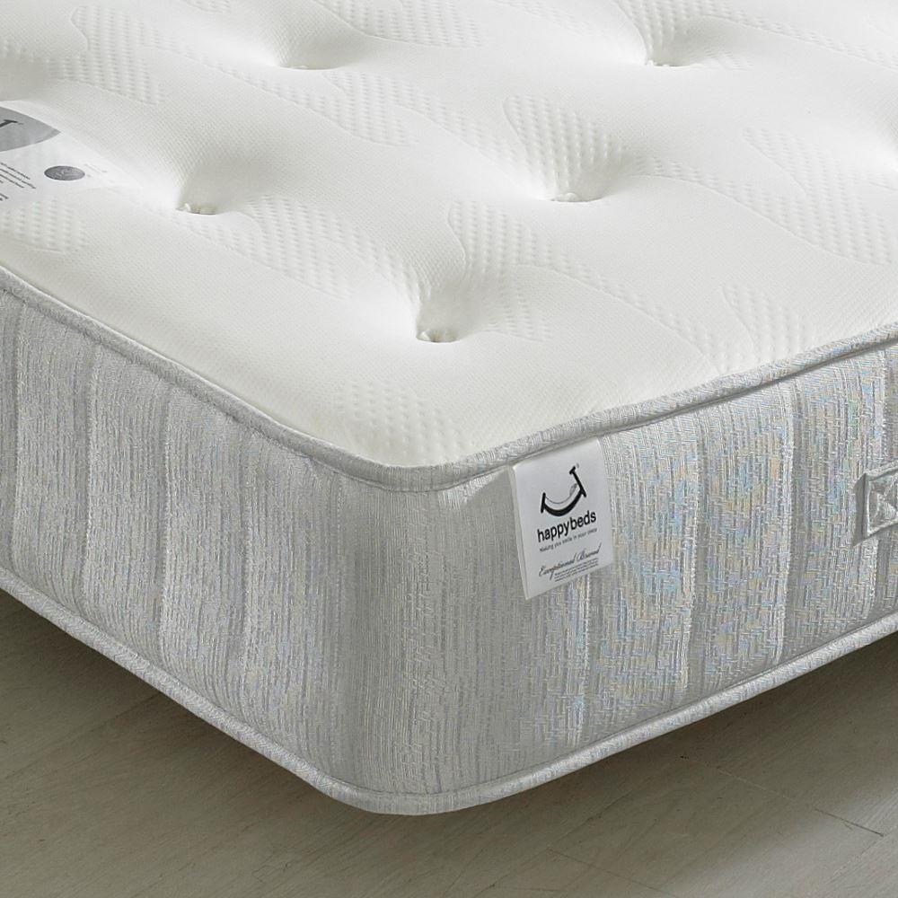 Pearl Contour Spring Memory Foam Tufted Mattress - 6ft Super King Size (180 x 200 cm)