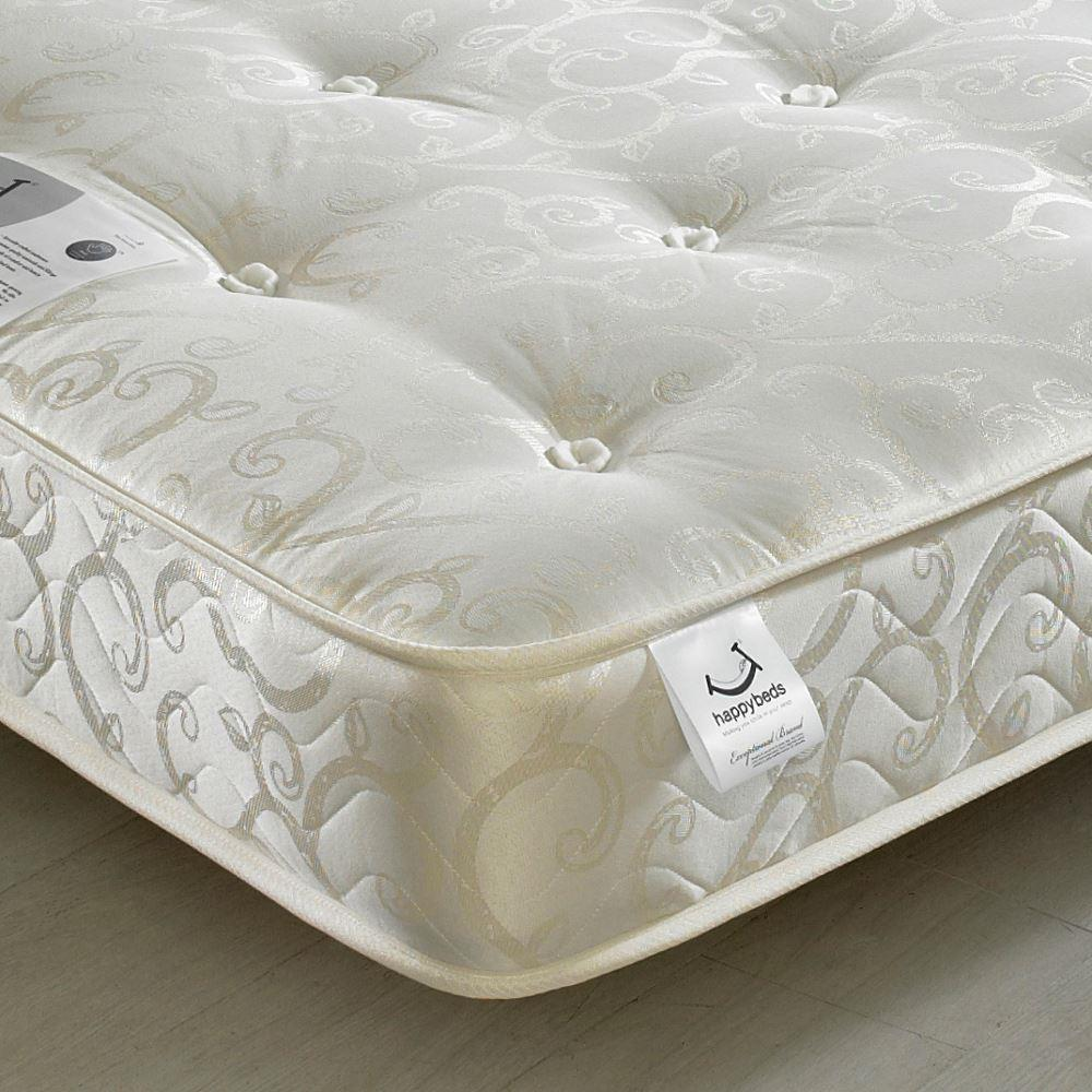 Gold Tufted Orthopaedic Spring Mattress - 6ft Super King Size (180 x 200 cm)
