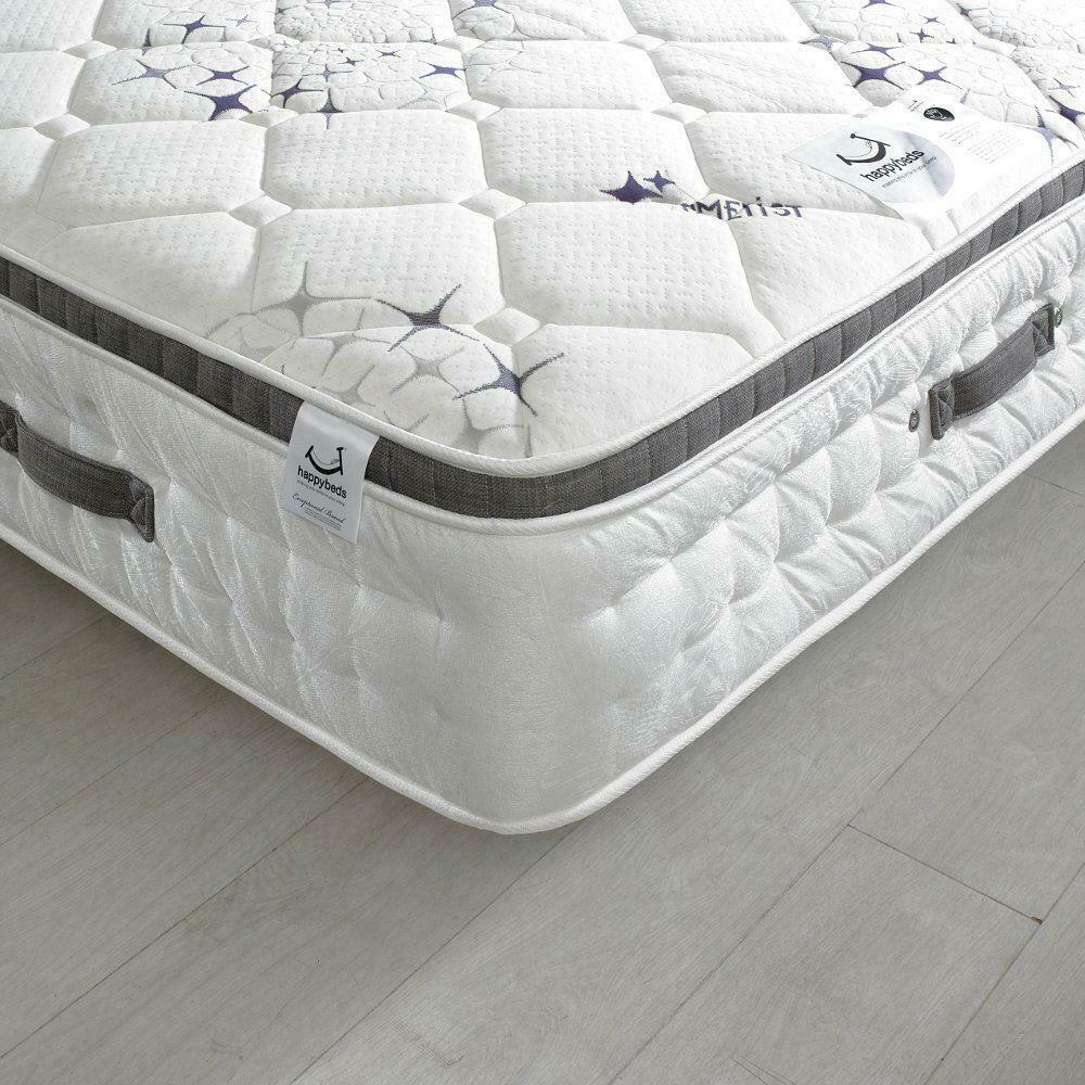 Ametist Crystal 2500 Pocket Sprung Air Stream Pillow Top Mattress - 5ft King Size (150 x 200 cm)