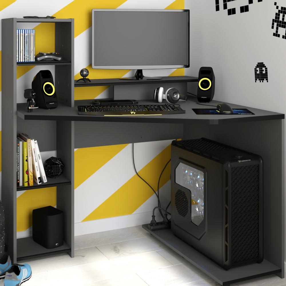 SetUp Corner Grey Gaming Desk